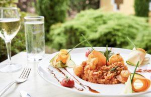 Risotto de St-Jacques,crevettes